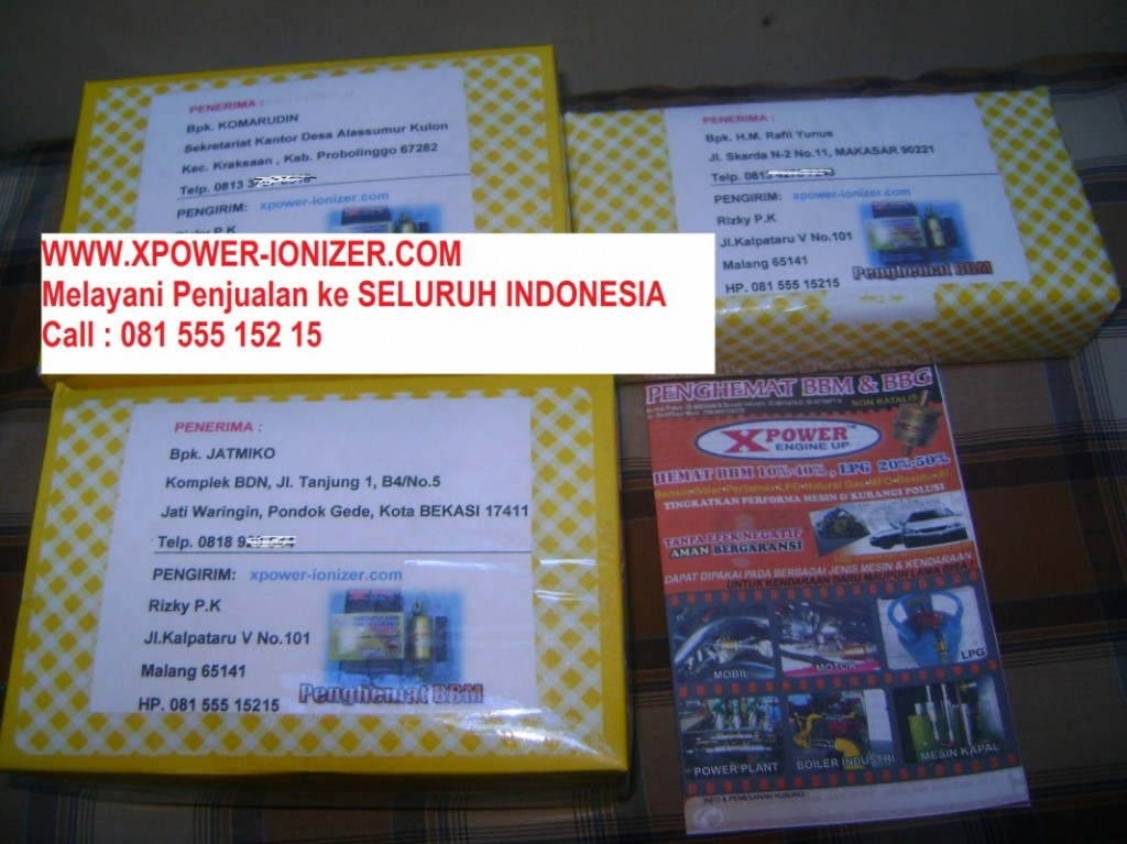 Pengiriman XPOWER ke Probolinggo , Makasar, dan Bekasi pada tgl 14-02-2012