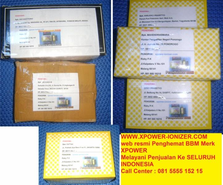Pengiriman Penghemat BBM Xpower ke Sampit,Yogyakarta,Medan,Ponorogo,Bekasi,Jakarta- xpower-ionizer[dot]com -HP-08155515215