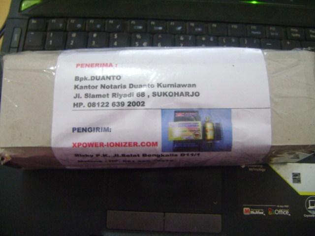 Kiriman XPower penghemat BBM , 12-9-2012 utk Bpk Duanto