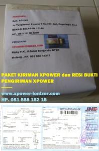 Kiriman XPower penghemat BBM , 14-9-2012  Bpk AGUNG di Bekasi Selatan