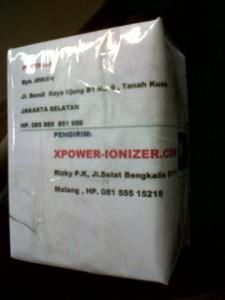 Pengiriman Xpower Tgl 7 Nopember 2012 lewat JNE [xpower-ionizerDOTcom]